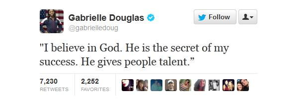 Габриелла Дуглас -  олимпийская чемпионка мира по гимнастике